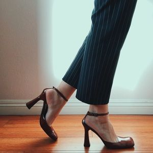 RARE Via Spiga square toe heels